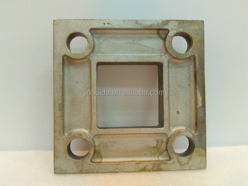 Floor mounted tube flange square shape stainless steel for 1 inch square floor flange