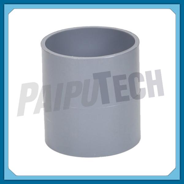 Plastic pipe fittings upvc straight coupling pvc socket