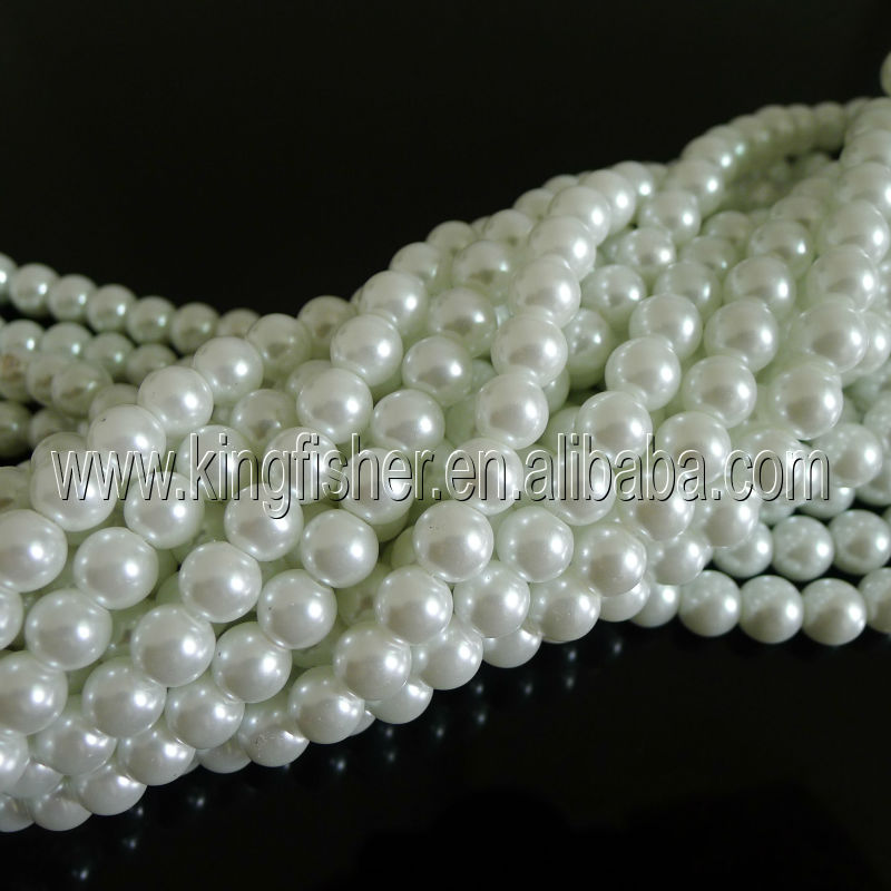 Loose strands large baroque pearls beads,High quality glass strands pearls for wedding decorations.