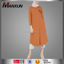2017 Long muslim tunic tops wholesale China manufactory islamic clothing fashion turkey abaya design