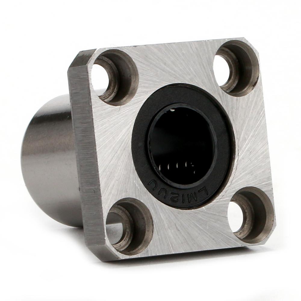 8mm Inner Diameter Square Flange Linear Motion Bushing Ball Bearing LMK8UU DT