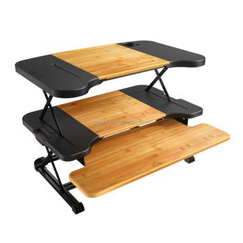 OMAX Adjustable Desk Riser Height Adjustable Desk Frame Sit Stand Desk