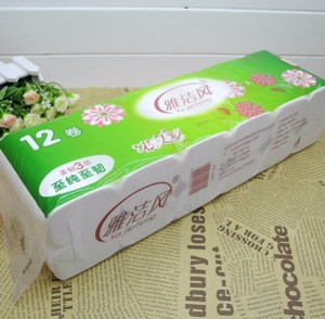 factory cheap wholesale LDPE TUBE toilet paper plastic packaging bags