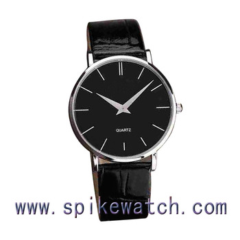 Quartz Analog Luxury Black Color Leather Men Watch Birthday Gifts For Husband