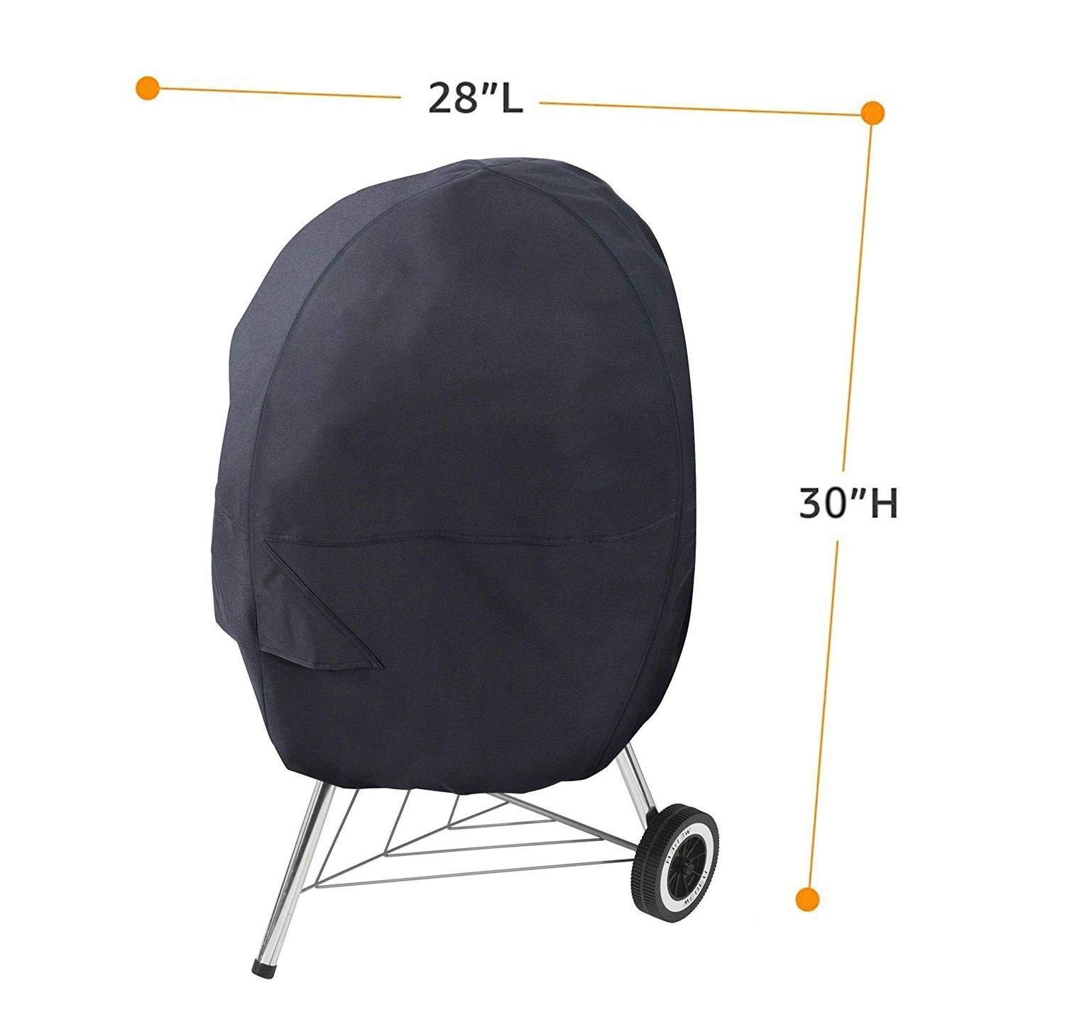 Skyee Upgraded BBQ Grill Cover, 30-Inch Waterproof Barbecue Grill Cover 210D Oxford Cloth Heavy Duty Gas Grill Covers Shade for Charcoal Grill (Black)