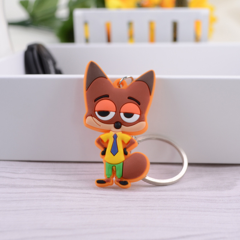 Promotion gifts 3d pvc rubber keychain customized