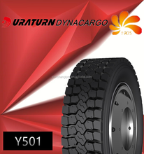 china tyre Y201Y501 225/70r19.5 Duraturn brand truck tyres all wheel neumaticos para camion