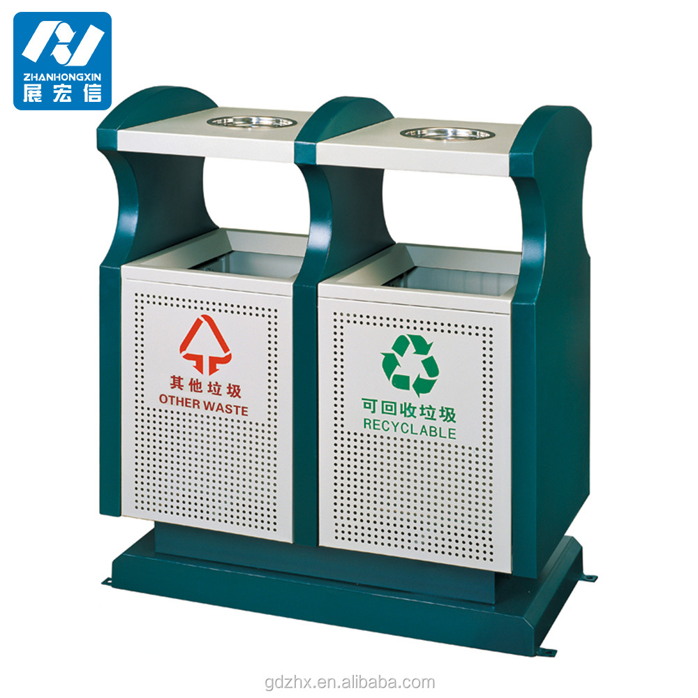 outdoor garbage separation bin