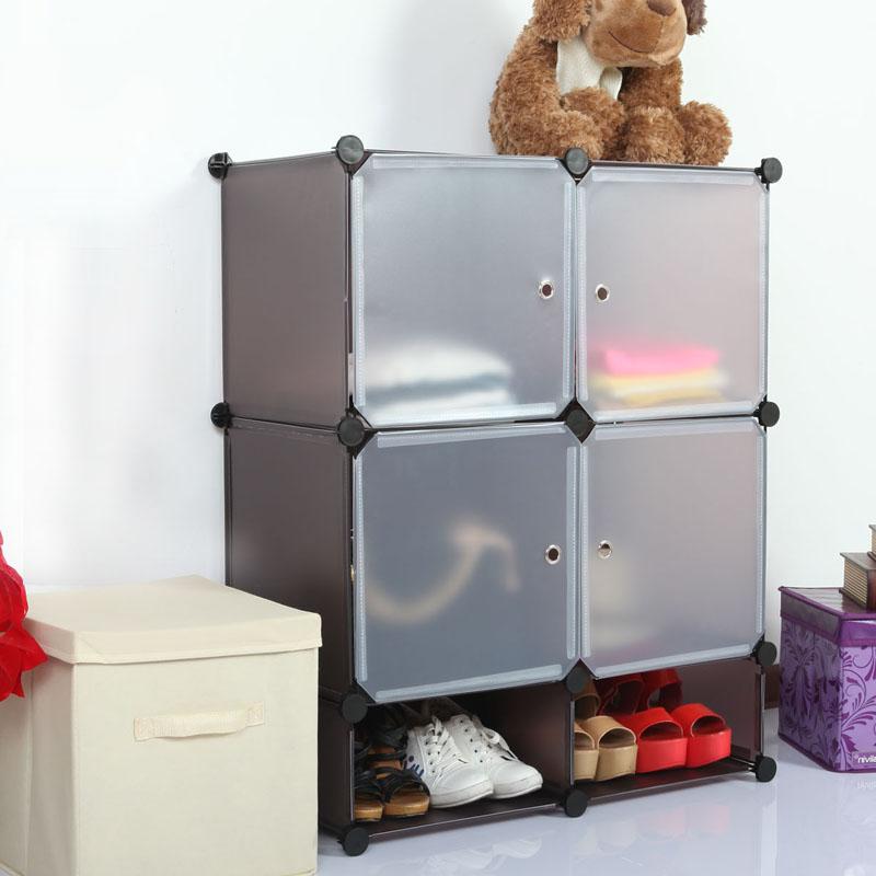 4 cubos de pl sticos cajones apilables gabinetes para la for Cajones plasticos apilables