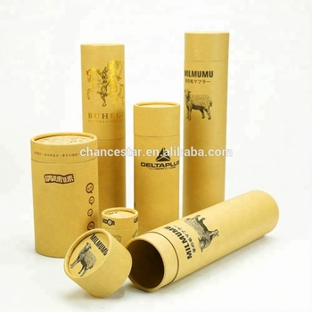 Customized round kraft paper cardboard mailing posters tube