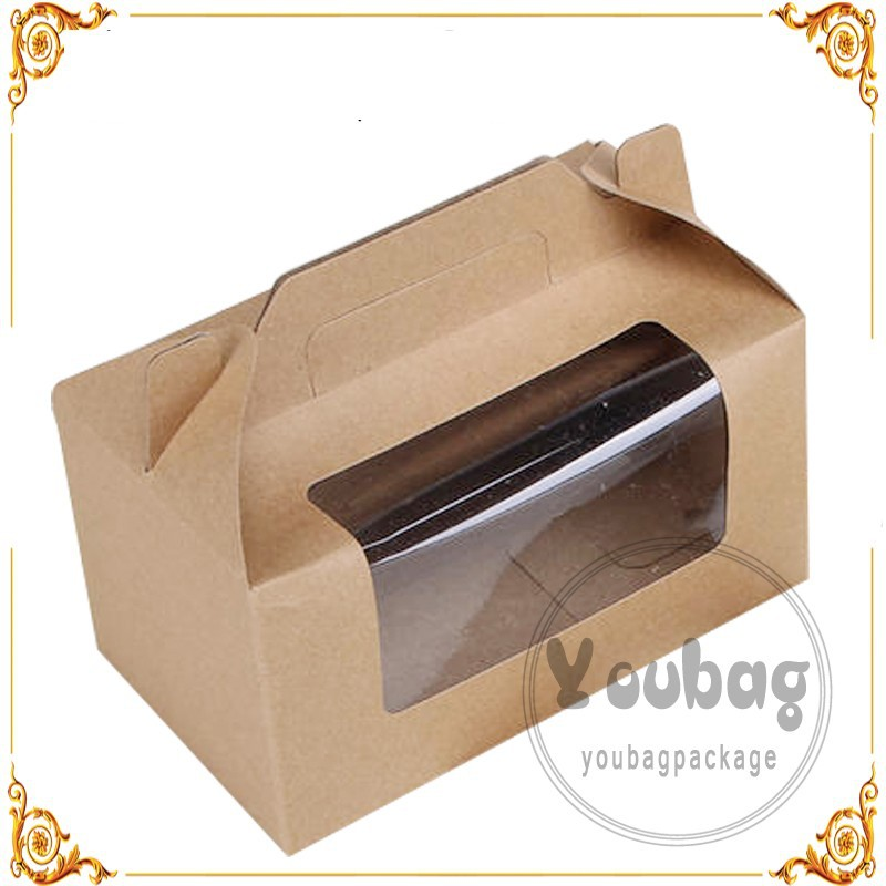Customized Kraft Paper Cake Packaging Box For Birthday
