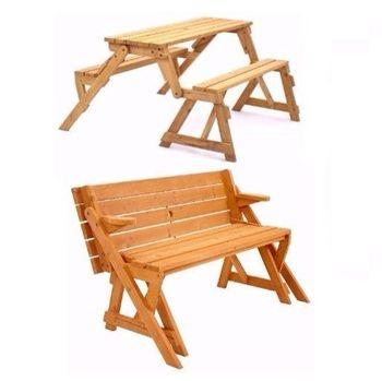 Bench Outdoor Patio Wooden Furniture