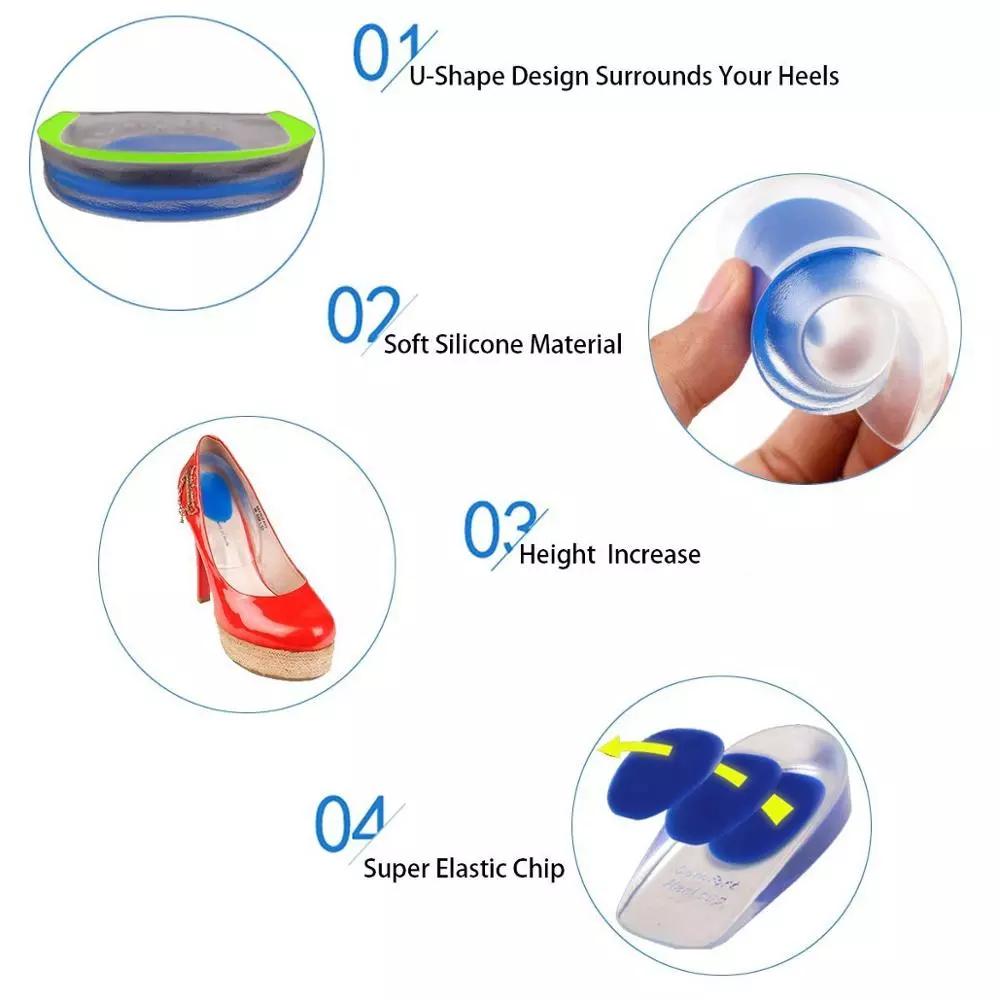 Silicone Insole Gel Cushion Foot Cushion Silicone Gel Heel Cups Heel Pad