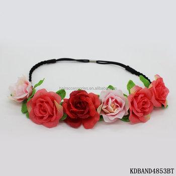 Blooming Flower Garland Crown Headband Hair Band Bridal Festival for Spring 6bd7328babb