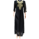 embroidery designs black lace abaya dresses online shopping