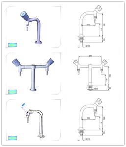 CE Factory gas tap for sale gas cork laboratory gas fittings