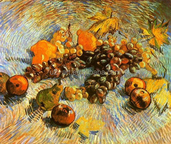 Van Gogh fruit oil painting for living room decoration