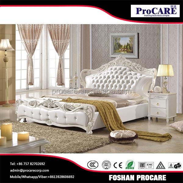 Français luxe royal style blanc ensembles de chambre à coucher en ...
