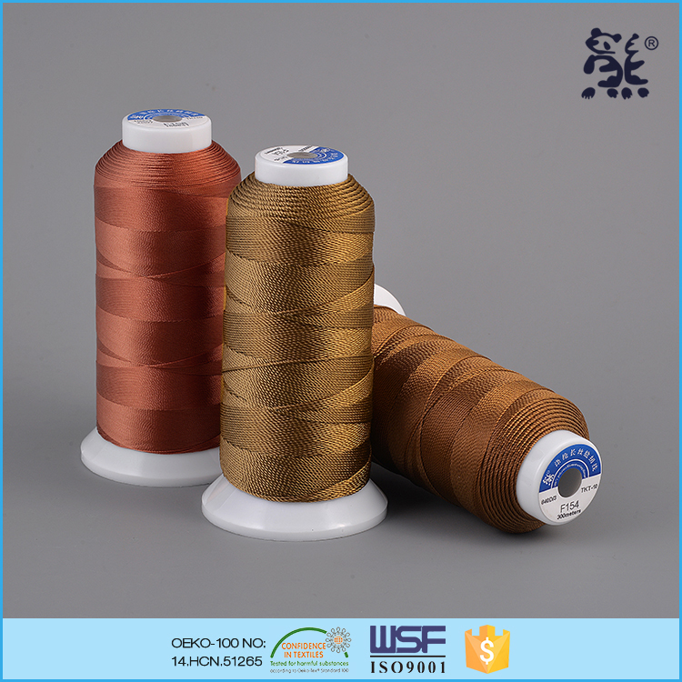 150D/3 60tex 45ticket filament 100% polyester sewing thread