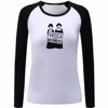 cheap custom design cotton lycra girl lady spring autumn white black raglan long sleeve t shirt votes for women