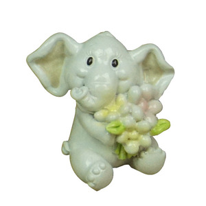 Wholesale Resin souvenir elephant with flower