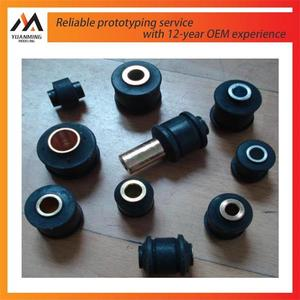 auto spare parts rubber machining prototype metal rubber parts fabricate