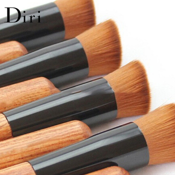 Flat Top Liquid based Bamboo Foundation Brush Angled Cosmetic Makeup Brush