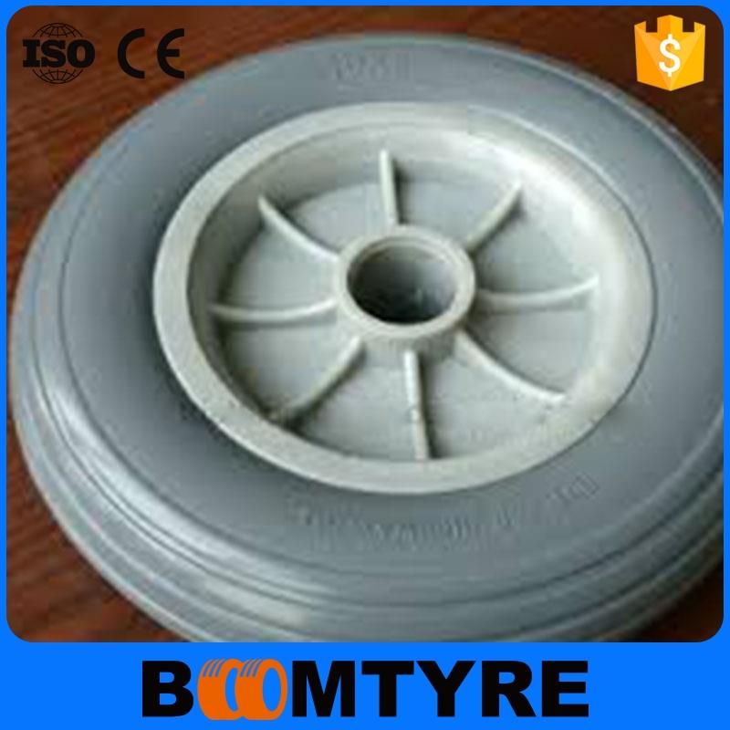 "High Quality 16"""" plastic rim pu foam 4.00-8 Custom polyurethane wheel"