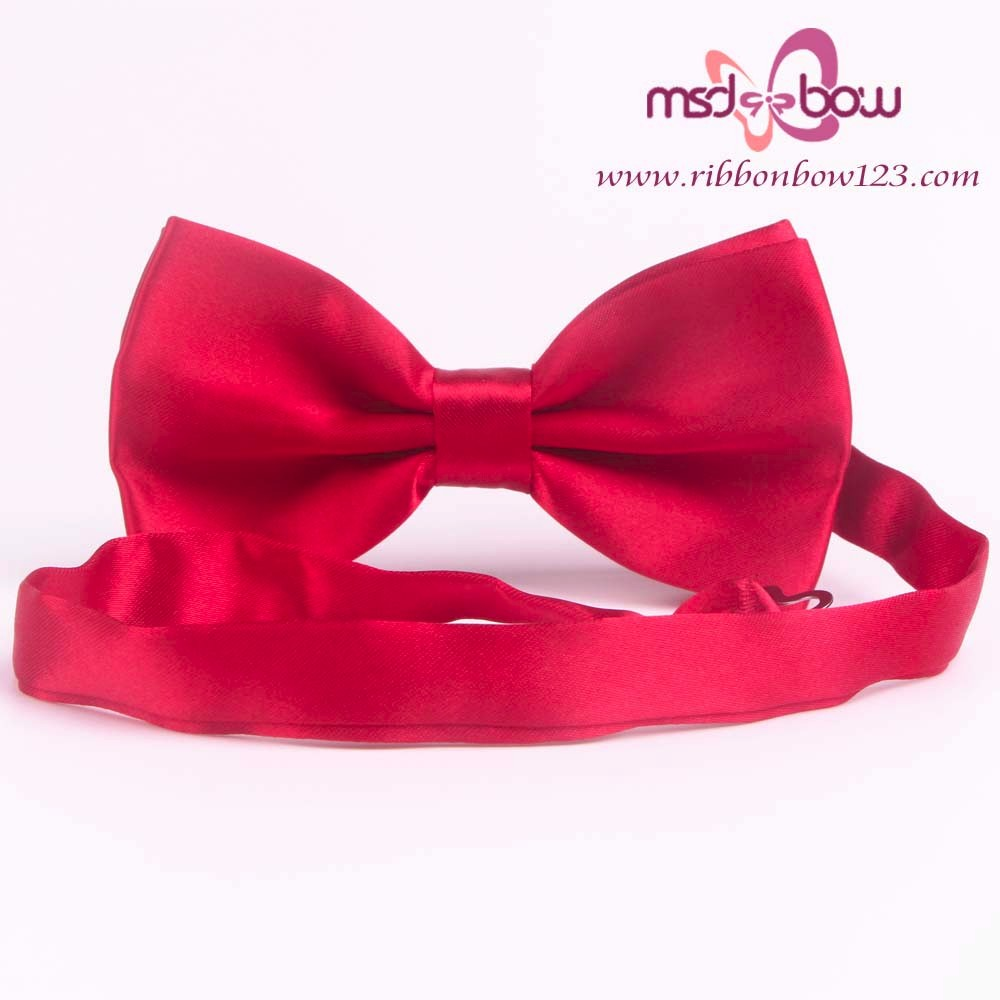 Wholesale Self Tie Satin Ribbon Elastic Bow Tie For Men