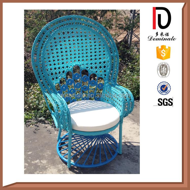 jardn de mimbre muebles de exterior barato silla pavo real