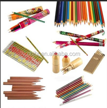 Hot sale natual promotion wood pencil,jumbo color pencil,wood color pencil set