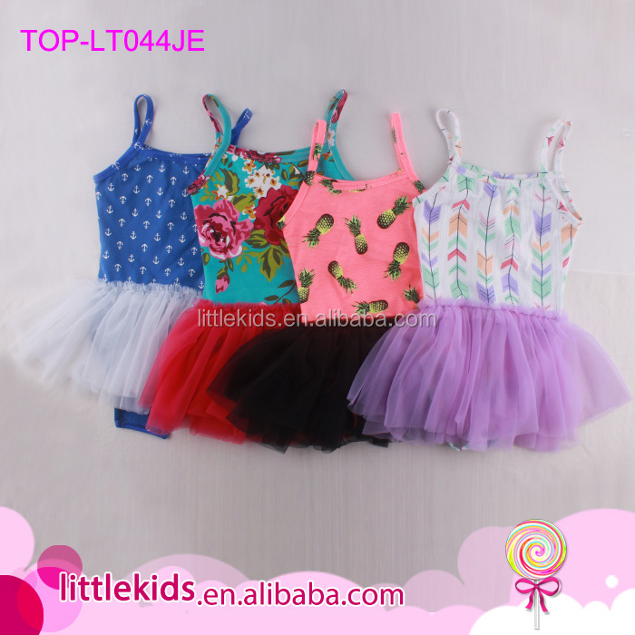 Girls Spandex / Cotton Camisole Chiffon Skirt Leotard Kids Ballet Dress Princess Baby Tutu Leotard