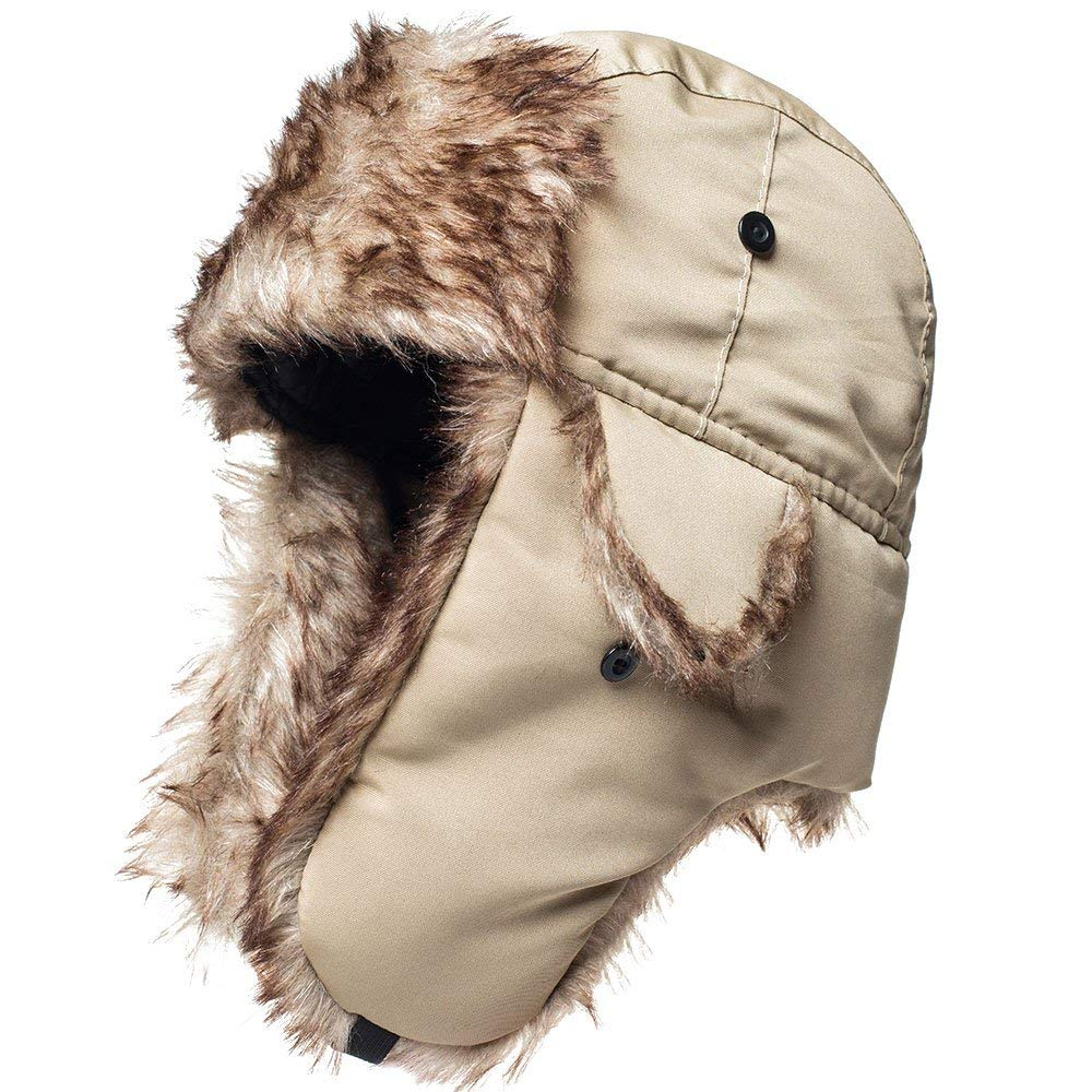 Get Quotations · Winter Hat Warm Cap Ushanka Russian Trooper Trapper Hunting  Cold Weather e866f10232b4