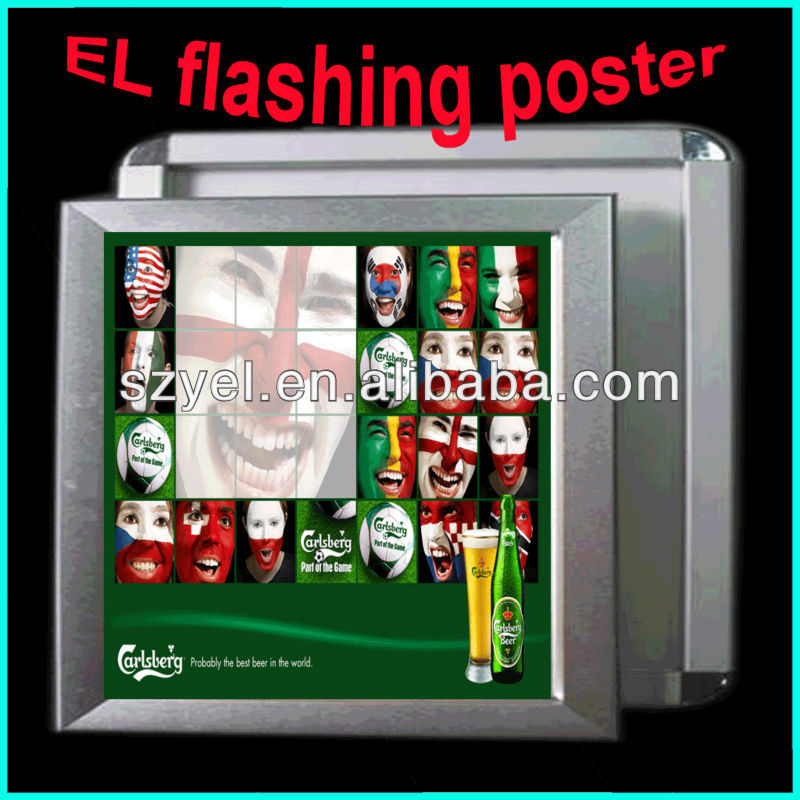 2014 luminescence el poster / el advertisement / el billboard with aluminum frame