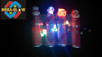 LED Snowman spinner wand,flashing santan spinning for christmas party