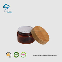 60g pet cosmetic jar wooden cosmetic jar