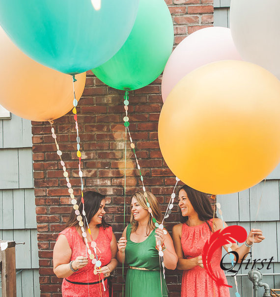 Colored 36 inch super large round latex balloons