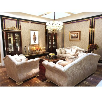 Yb63 Victorian Luxury Italian Style Living Room Furniture Set Classic Solid  Wood Frame With Gold Leaf Fabric Sofa Set Matching - Buy Victorian Luxury  ...