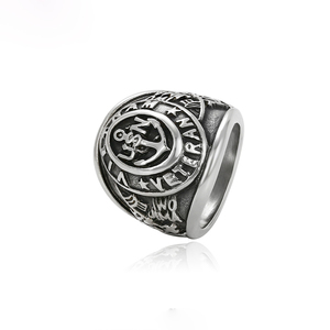 15502 xuping hot selling USN military Vietnam veteran lettered stainless steel man's ring