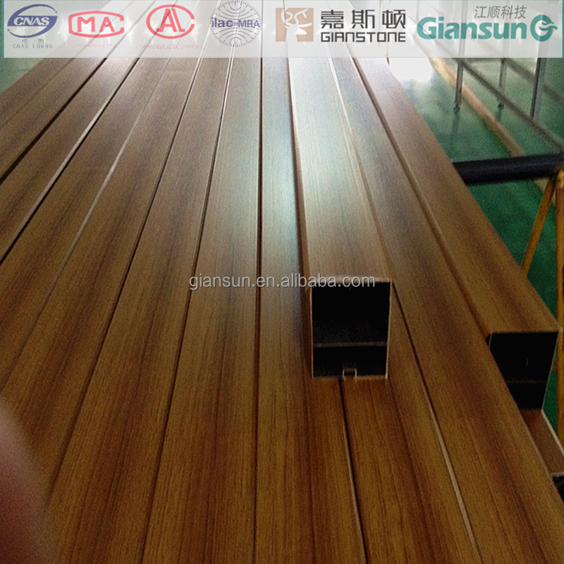 Fireproof A2 Grade Pvc Veneer Coated Aluminum Square Tube