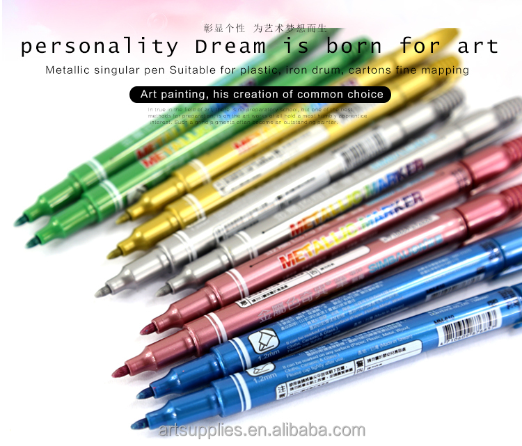 MM-610 DIY painting pen colorful magic pen drawing pen marker metal color marker