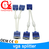 Good sale all over the world 30 cm cooper material connector 2 in 1 vga cable specification