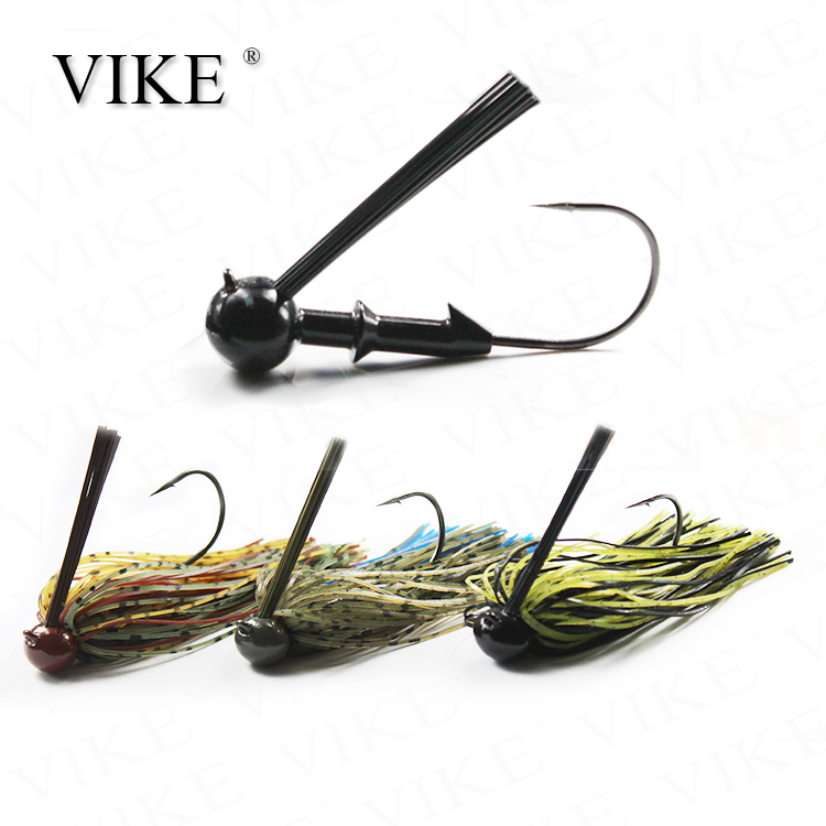 Vike Fishing Lures Tungsten Football Rubber Jig For Bass Fishing - Buy  Fishing Jig Lures,Tungsten Head Jig,Fishing Skirt Jig Lure Product on