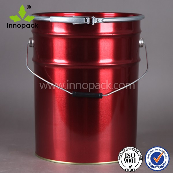 5 Gallon Paint Bucket With Iron Lid Open Top Cover With