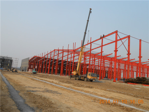 modern light steel structure frame warehouse shed in Sudan