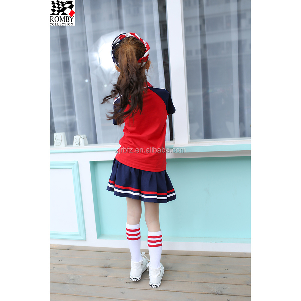 School Uniform Plaid Skirts Boys T-Shirt School Uniform Guangzhou