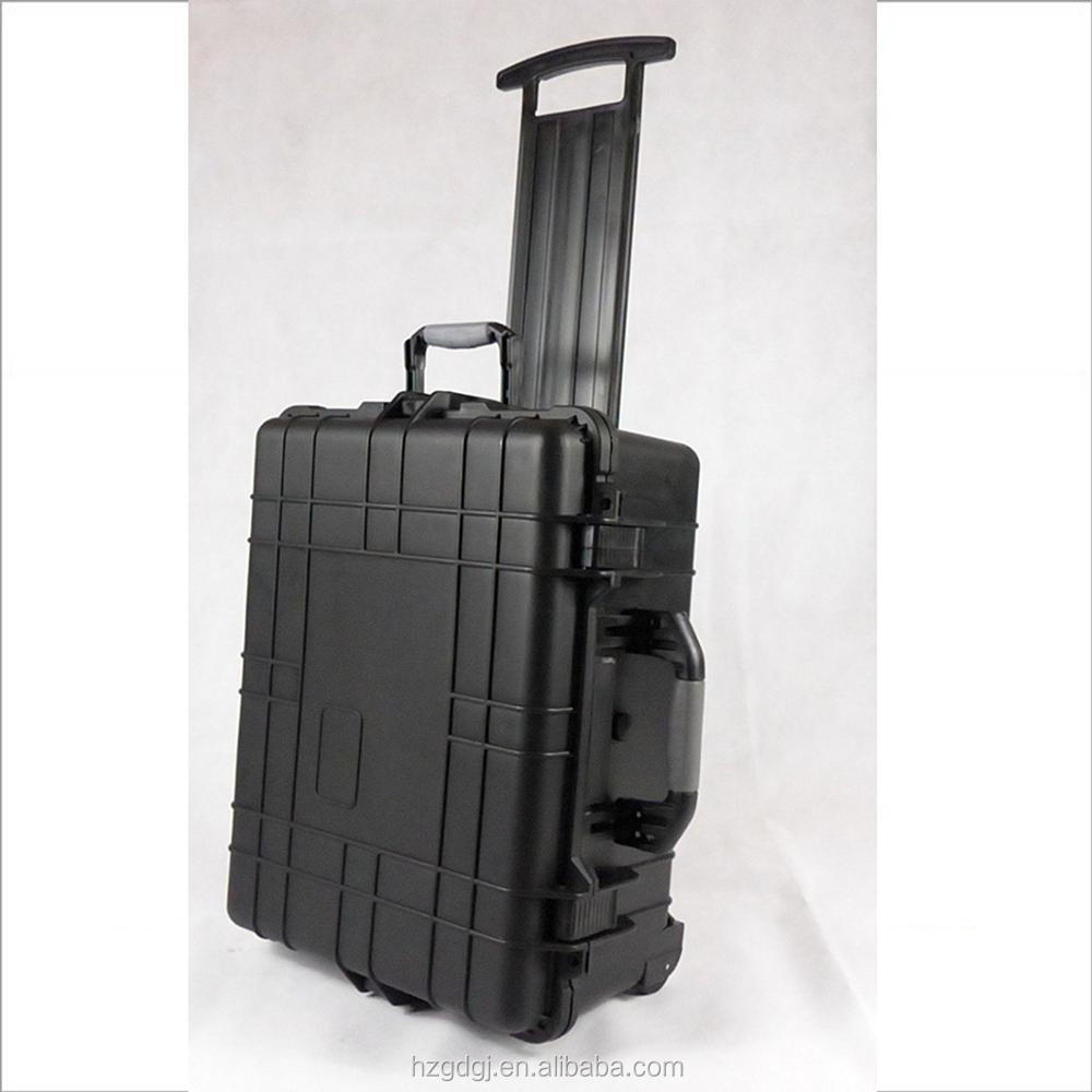 Hard plastic waterproof wheels and pull handle large carrying case for trade show and exhibitions