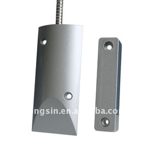 Magnetic contact for metal ring gate door alarm