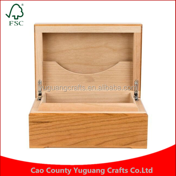 Wholesale price Custom made Ideal Humidity Cherry Wood Personalized Wooden Cigar humidor Box
