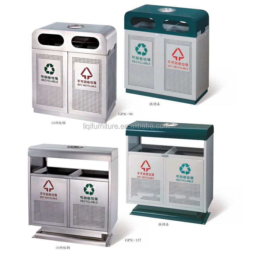 Outdoor Dustbins for Hotel Garden Park Hospital Airport School